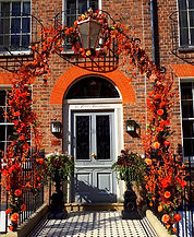 Artificial Flowers Arch for Door Autumn Flowers and Colours.jpg