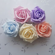 Artificial Wedding Flowers Pastel Roses.
