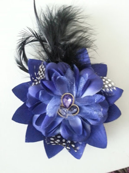 ARTIFICIAL FLOWER BLUE HAIR ACCESORY/CORSAGE