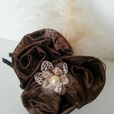 VINTAGE STYLE HAIR ACCESSORY - BROWN/BRONZE