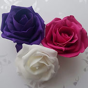 Artificial Roses Purple, Hot Pink and Wh