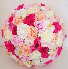 Artificial Wedding Flowers Flower Ball 50cm Peach Pink Cream Ivory Roses Orchids Peony.jpg