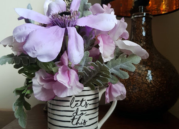 Silk Flower Arrangement Let's Do This Mug