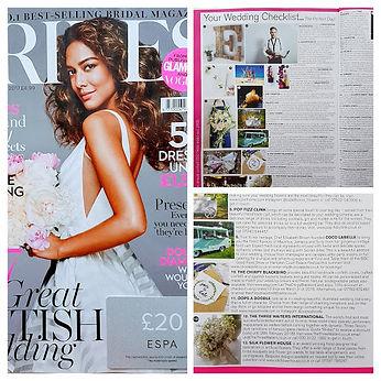 Silk Flower House in BRIDES Magazine Sep