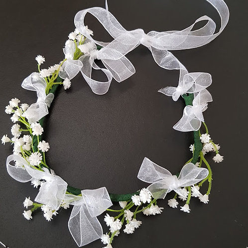 GYPSOPHILA HAIR CROWN - BRIDAL, BRIDESMAIDS, FLOWER GIRL