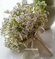 Artificial Babies Breath Bridal Bouquet.