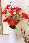 Silk Flower Arrangement Red Poppies and Daisy Jug.jpg