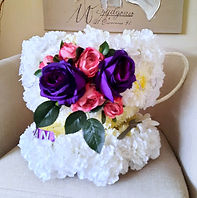 Artificial Funeral Flowers Cup and Saucer .jpg