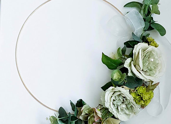 ARTIFICIAL FLOWERS BRIDESMAIDS HOOP
