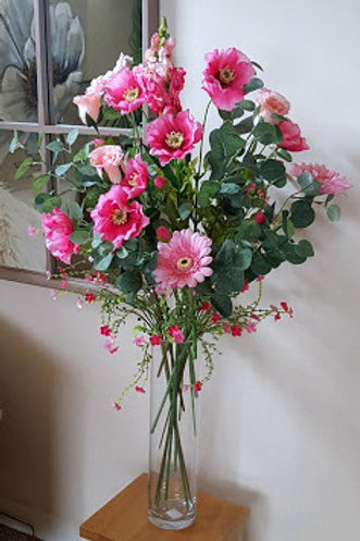 SILK FLOWERS BOUQUET PINK