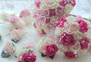 Artificial Roses Wedding Flowers Mixed P
