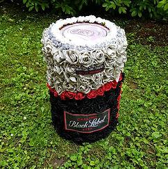 Artificial Flower Funeral Flowers Carling Black Label Can .jpg