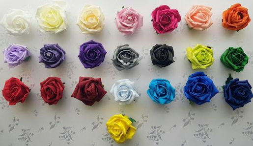 Artificial Wedding Flowers Foam Rose Col