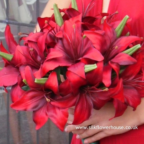 Artificial Tiger Lily Bridal Bouquet