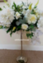 Silk Flowers Wedding Centrepiece