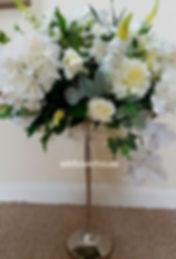 Silk Flowers Wedding Centrepiece
