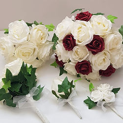 Artificial Rose and Ivy Wedding Flowers