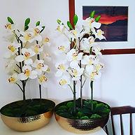 Silk Flower Arrangement Artificial Orchi