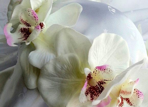 ORCHID BRIDAL HAIR RING