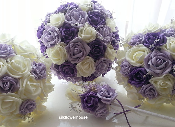 Bridal Bouquet - Design Your Own - Foam Roses and Rosebuds
