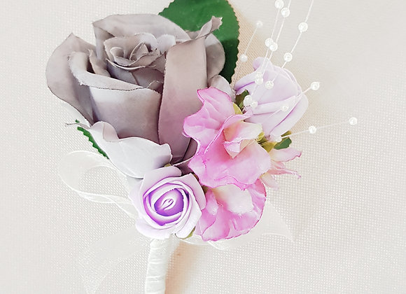 Artificial Rose and Sweet Pea  Corsage