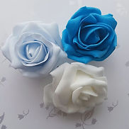 Artificial Flowers Turquoise, Baby Blue