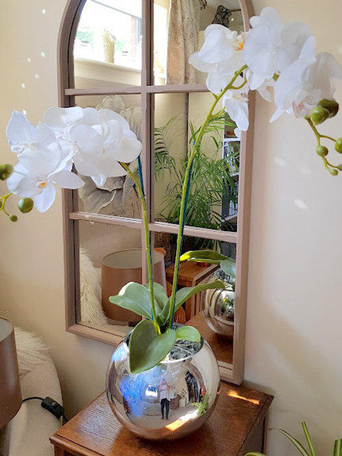 LARGE ARTIFICIAL ORCHID BOWL