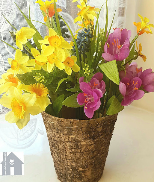 Artificial Spring Flower Arrangement in