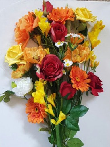 ARTIFICIAL FLOWERS SUNSHINE COTTAGE GARDEN BOUQUET