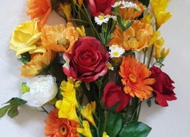 ARTIFICIAL FLOWERS SUNSHINE COTTAGE GARDEN BOUQUET