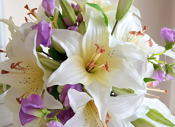 Silk Wedding Flowers  Collection Lily and Sweetpea