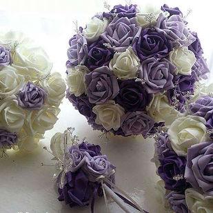 Artificial Wedding Flowers Foam Rose Bou