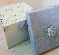 Box of Roses with crystal centres