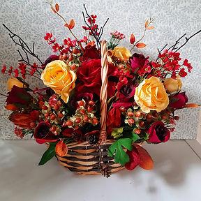 Artificial Flower Arrangement Autumn Flowers Basket
