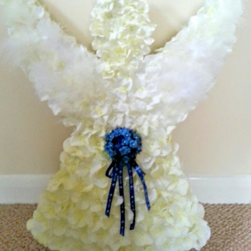 ARTIFICIAL FLOWERS ANGEL FUNERAL TRIBUTE