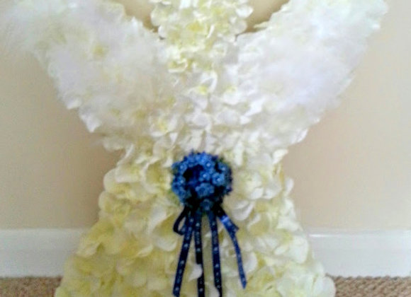 Artificial Flowers Funeral Tribute Angel