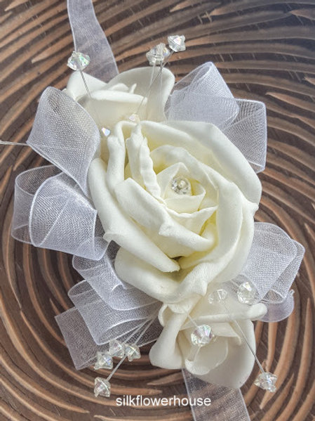 ARTIFICIAL FLOWERS WRIST CORSAGE - DESIGN YOUR OWN!