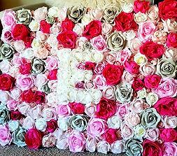 Artificial Flowers Personalised Rose Flower Wall Art.jpg