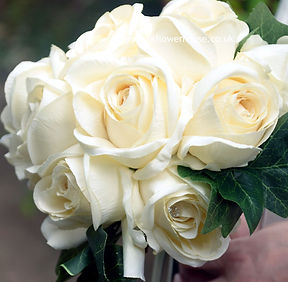 Cream Rose Bridal Bouquet.JPG