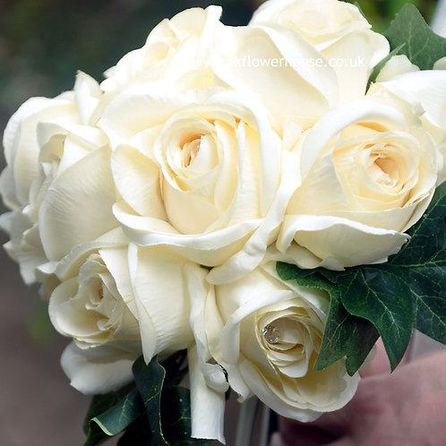 Silk Rose Bridal Bouquet