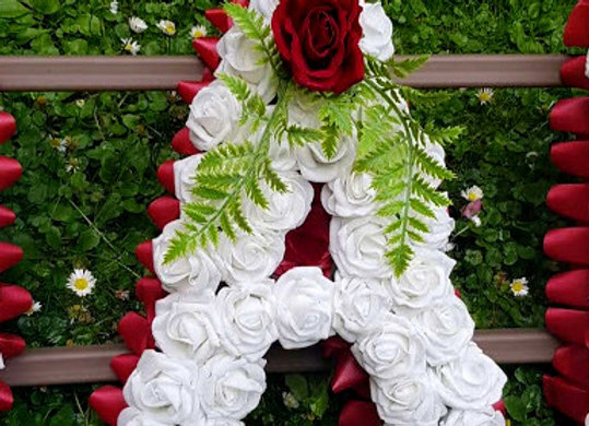 Artificial Funeral Flowers, Any 6 Letters, Rose and Fern