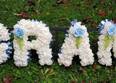 Artificial Funeral Flowers, Any 4 Letters, Rose and Fern