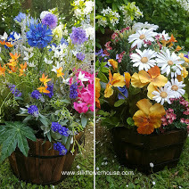 Silk Flowers Garden Tubs and Planters