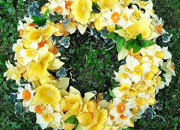 Silk Flowers 12 INCH Funeral Wreath
