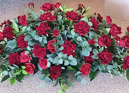 Artificial Rose Large Coffin Spray/Funeral Spray