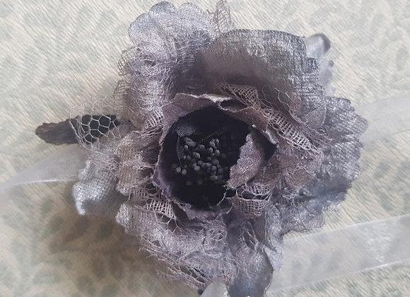 Artificial Flower Wrist Corsage Grey