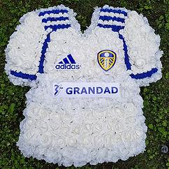 Artificial Funeral Flowers Leeds United Football Shirt .jpg