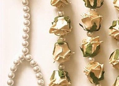 Rose and Pearl Indian Wedding Flowers Palla Garland