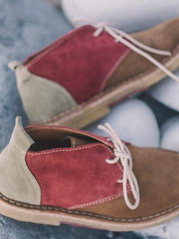Suede Boots Fraise Pistacchio