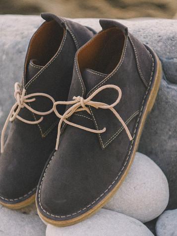 Suede Boots Deep Grey